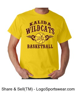 Kalida Wildcats Basketball T-shirt Design Zoom