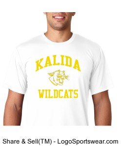 Kalida Wildcats Pereformance Short-Sleeve T-Shirt Design Zoom